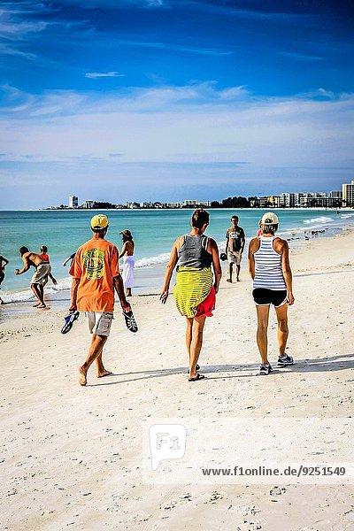 Mensch Menschen Strand Küste schlafen Insel Mexiko Florida Spaß Schlüssel Sarasota