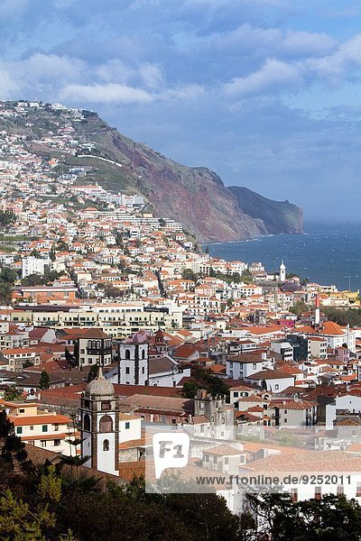 Panoramic view of Funchal  Madeira  Portugal.