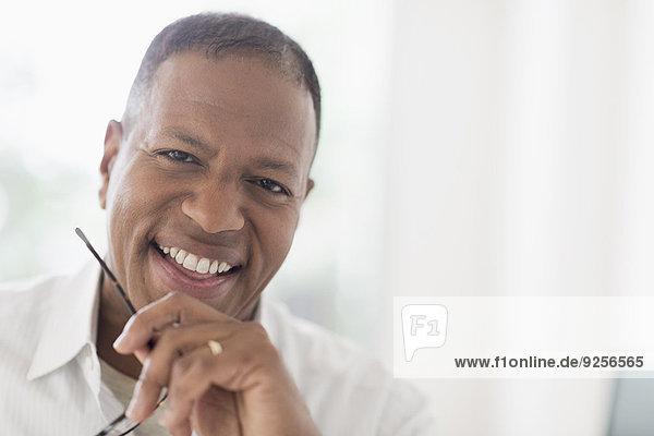 Portrait of smiling mature man