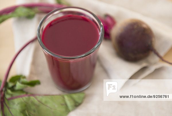 Studio Shot of beetroot juice