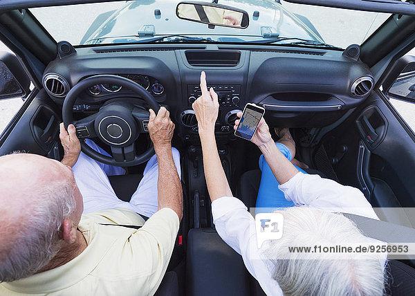 Senior Senioren Auto Cabrio