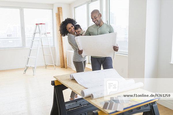 Blaupause Eigentumswohnung Untersuchung neues Zuhause