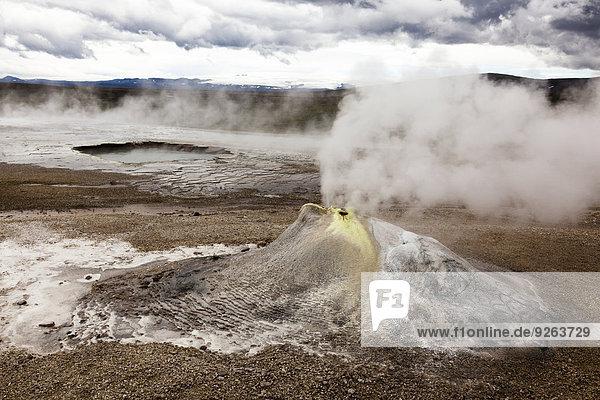Insel  Hveravellir  Thermalquelle  Fumarole  Geothermiegebiet