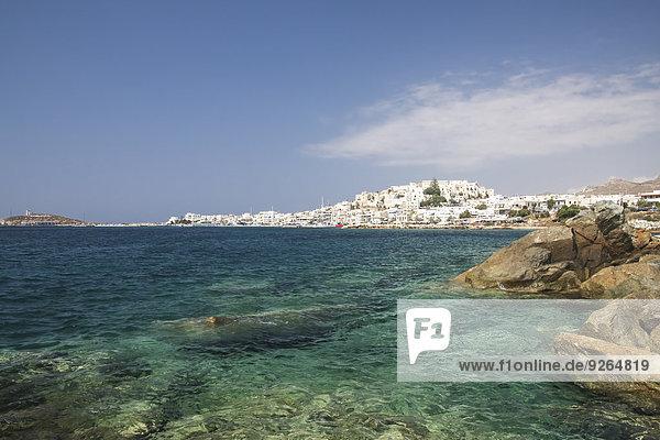 Griechenland  Kykladen  Naxos Stadt und Hafen