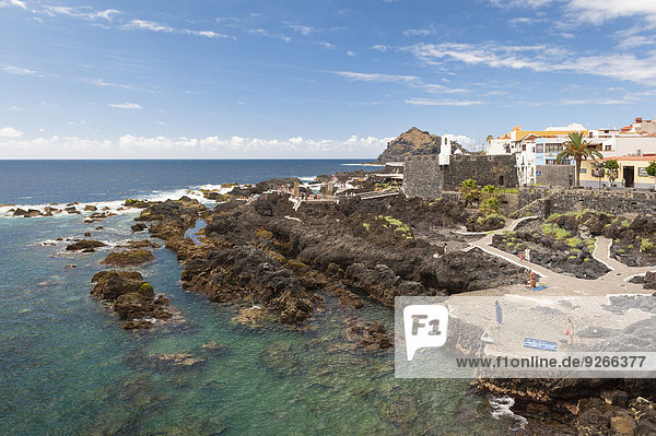 Spain  Canary Islands  Tenerife  View of Garachico on the north coast