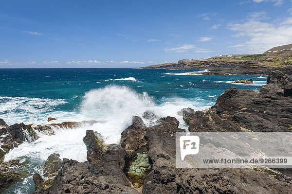 Spanien  Kanarische Inseln  Teneriffa  Küste bei Buenavista del Norte an der Nordküste