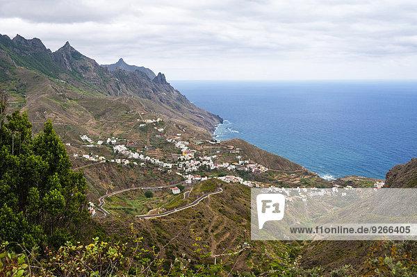Spanien  Kanarische Inseln  Teneriffa  Veew von Taganana an der Nordküste