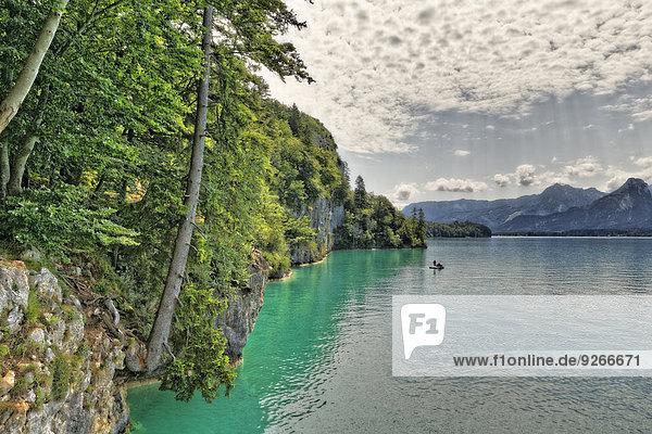 Österreich  Salzkammergut  Salzburger Land  Sankt Gilgen  Blick auf den Wolfgangsee