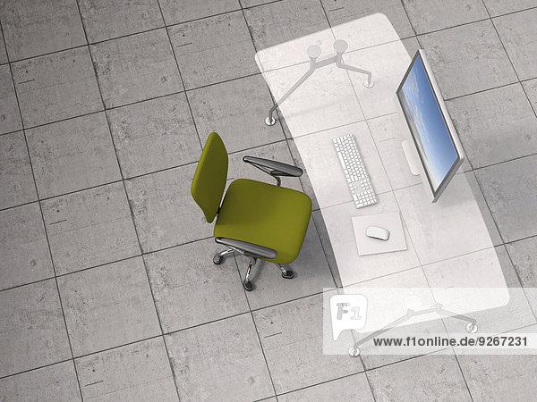 3D-Rendering  moderner Arbeitsbereich