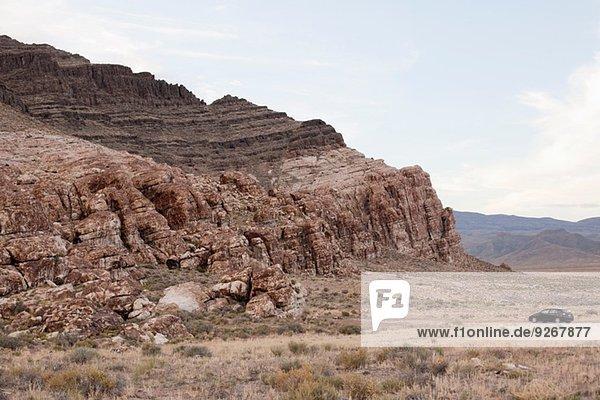 Parkplatz in der Nähe einer Felsformation  Ibex  Utah  USA