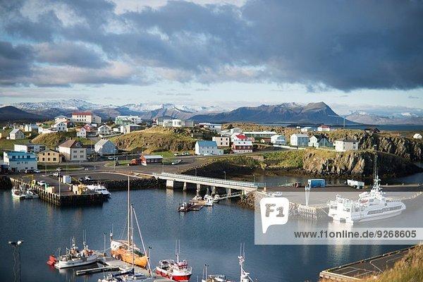Harbour  Stykkisholmur  Snaefellsnes  Iceland