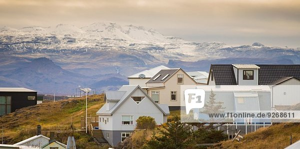 Houses in village of Stykkisholmur  Snaefellsnes  Iceland