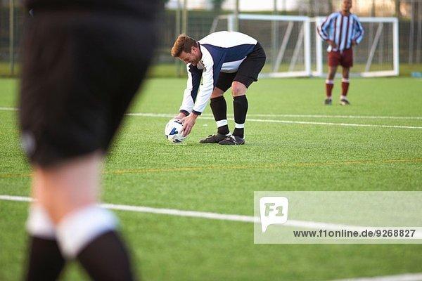 Fußballspieler-Positionierungsball