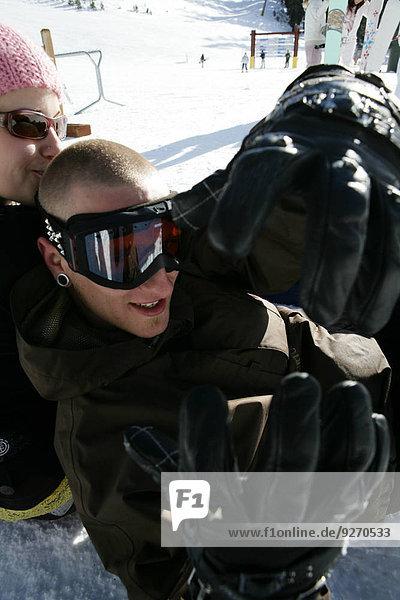 Frau Mann Skibrille Schutzbrille Ski Hang