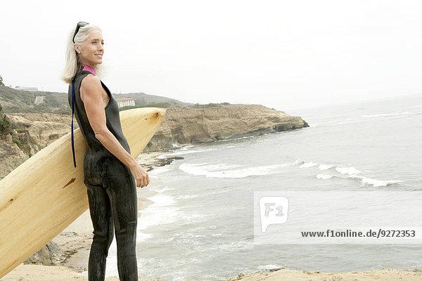 Frau Surfboard Ansicht