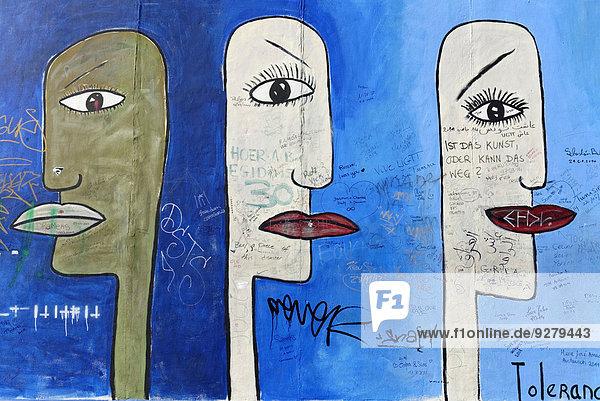Wandgemälde,  Detail,  East Side Gallery,  Mauergalerie,  Berlin,  Deutschland