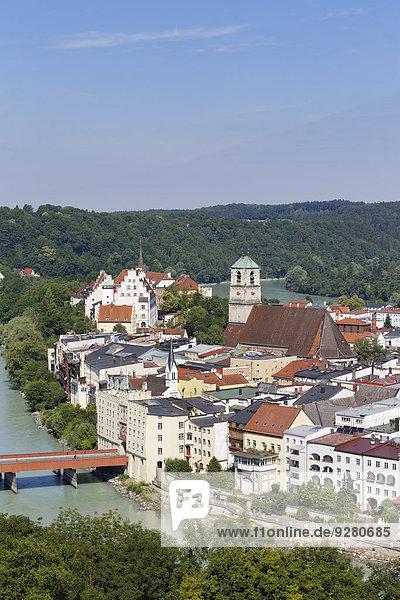 Städtisches Motiv Städtische Motive Straßenszene Straßenszene Bayern Deutschland Oberbayern Wasserburg am Inn