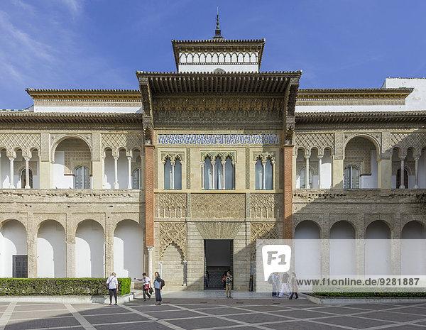 Palast Schloß Schlösser Veranda König - Monarchie Andalusien Sevilla Spanien