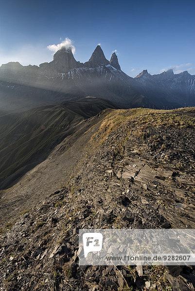 Aiguilles d'Arves Berg  Pelvoux  Dauphiné Alpen  Département Savoie  Frankreich