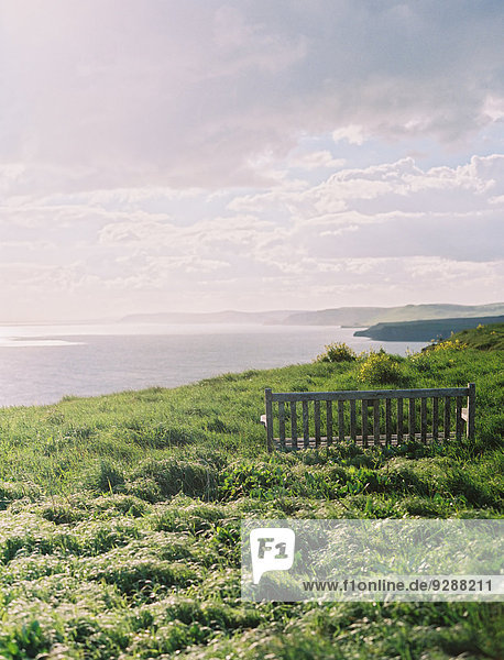 Küste Meer Ansicht vorwärts Gras South East England
