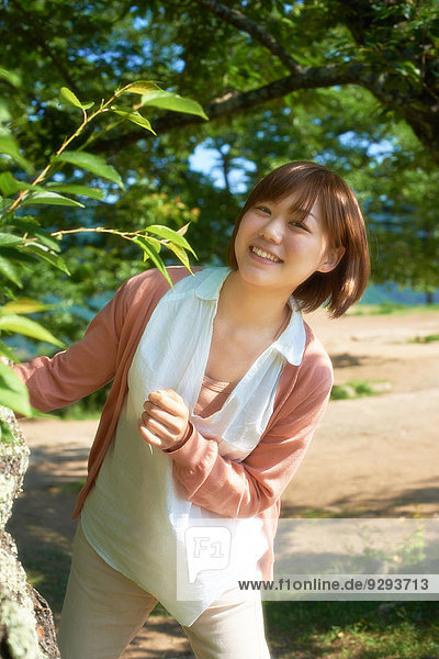 Young Japanese girl in the countryside