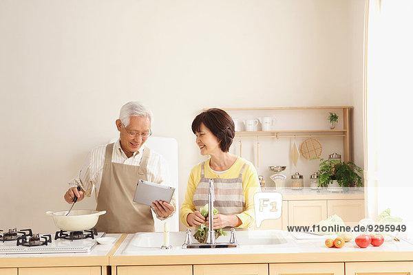 Senior Senioren Küche Erwachsener japanisch