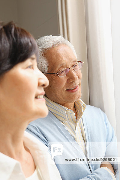 Senior Senioren Zimmer Wohnzimmer Erwachsener japanisch