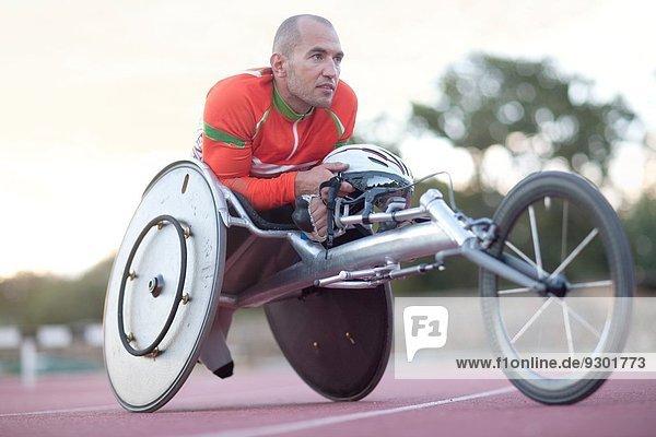 Nahaufnahme des Para-Athleten