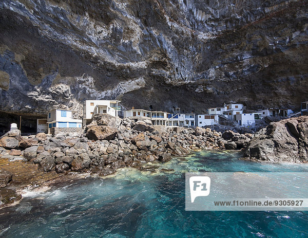 Felsen Küste Kanaren Kanarische Inseln La Palma Spanien Tijarafe