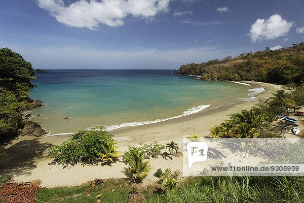 Beach  lagoon  Bloody Bay  Trinidad and Tobago
