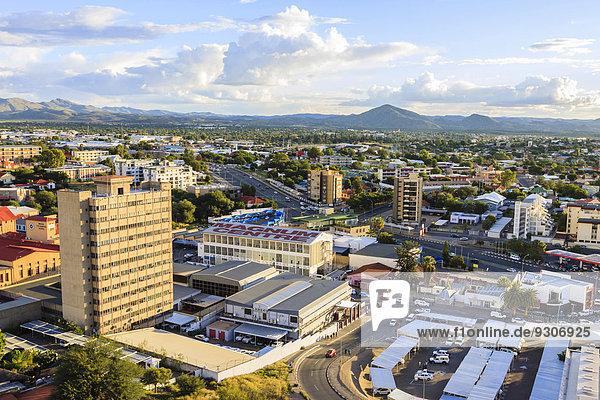 Überblick über die Innenstadt  Windhoek  Namibia