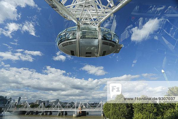 Das London Eye  Riesenrad  London  England  Großbritannien
