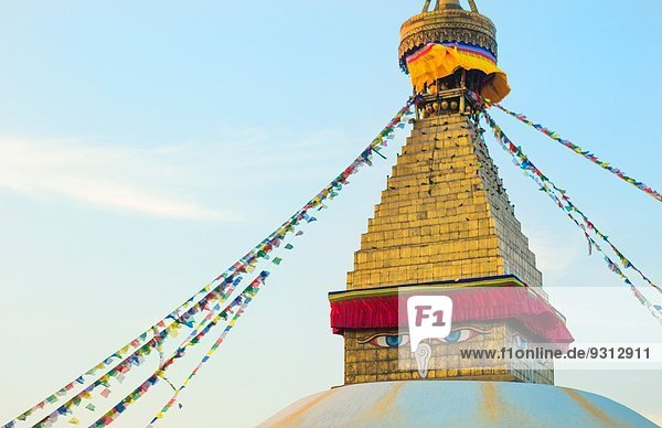 Kathmandu Hauptstadt Wahrzeichen Religion Nepal Stupa