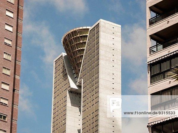 Gebäude Hochhaus Provinz Alicante Geschwindigkeit Benidorm Spanien