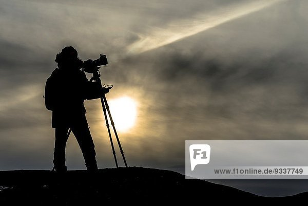 Photographer silhouette.