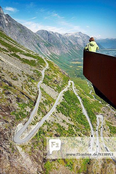 Leiter Leitern Norwegen Damm Trollstigen