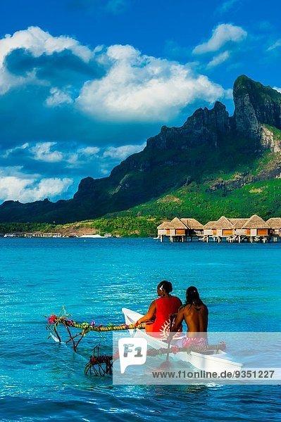Kanu Französisch-Polynesien Lagune Polynesier