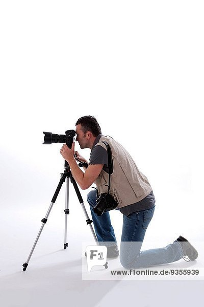 Photographer in studio