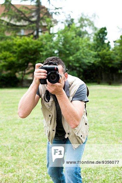Außenaufnahme Fotograf schießen freie Natur