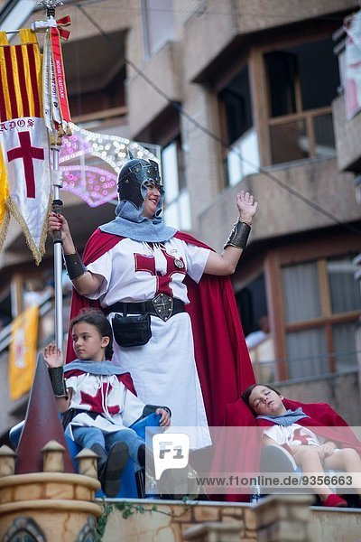 Participants of the Moors and Christians  Ontinyent  Valencia  Spain  Europe