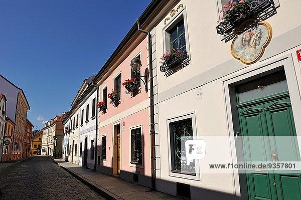 Europa Straße Stadt Tschechische Republik Tschechien alt
