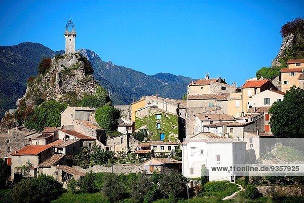 Frankreich Tal Dorf