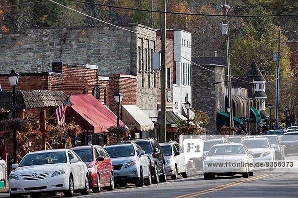 Vereinigte Staaten von Amerika USA Herbst Innenstadt North Carolina