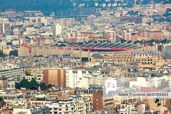 Paris Hauptstadt Frankreich Ansicht Ballonsport Stadion Football