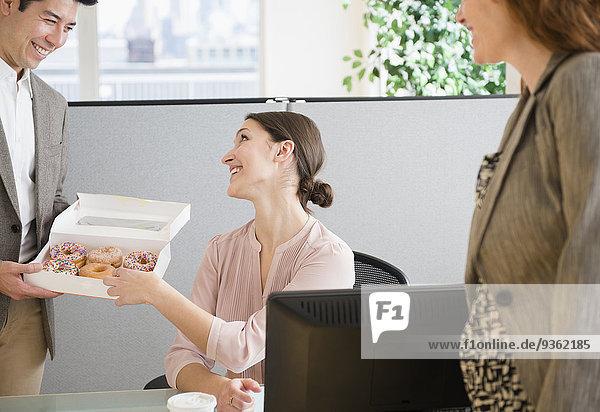 Mensch Büro Menschen Donut Business