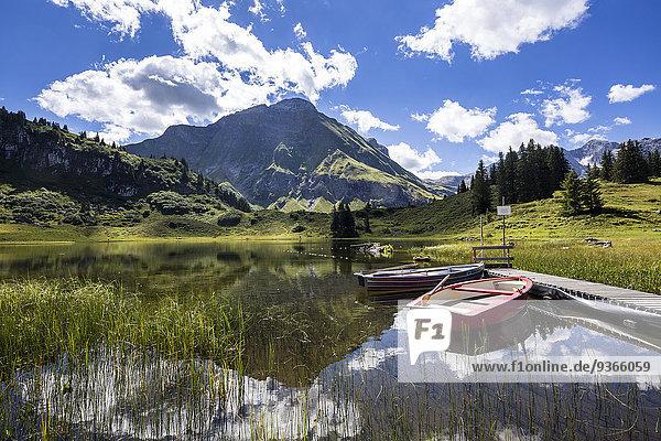 Austria  Vorarlberg  Koerbersee mountain lake