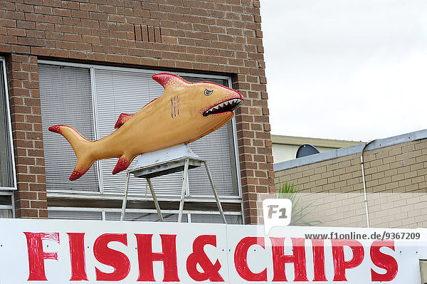 Australien  Victoria  Lakes Entrance  Fish and Chips Snackbar