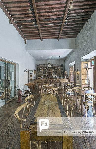 Chairs And Tables In Traditional Coffee Shop Guanajuato Guanajuato Mexico