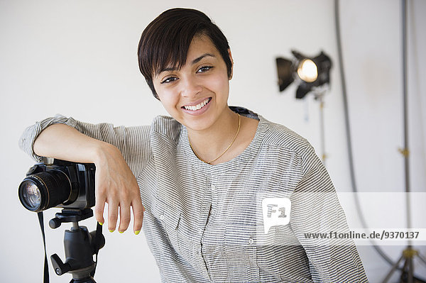 lächeln mischen Fotograf Studioaufnahme Mixed