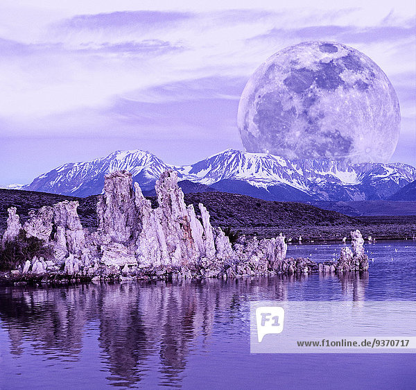 Felsbrocken Vereinigte Staaten von Amerika USA über See Anordnung Mond Kalifornien